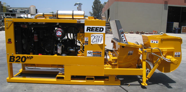 REED Skid Mounted Concrete Pump with Optional Mixer