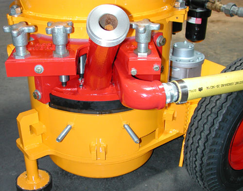 REED Gunite Machine Housing with Wear Pad and Gooseneck